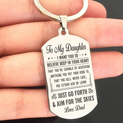DAUGHTER DAD - NEVER LOSE - KEY CHAIN 1