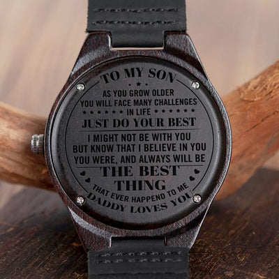 SON DADDY - JUST DO YOUR BEST - WOOD WATCH