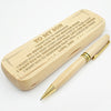 SON DAD - LIFE CAN BE UNFAIR - ENGRAVED WOOD PEN CASE