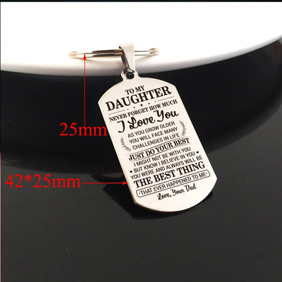 DAUGHTER DAD - DO YOUR BEST - KEY CHAIN 1
