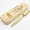 SON MOM - BE THE MAN I KNOW YOU CAN BE - ENGRAVED WOOD PEN CASE