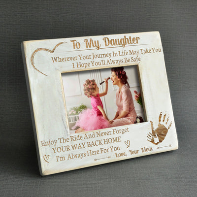 DAUGHTER MOM - ALWAYS BE SAFE - WOOD FRAME