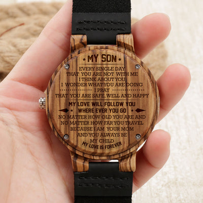 SON MOM - FOLLOW YOU - ZEBRA WOOD WATCH