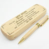 SON MOM - LOVED MORE THAN YOU KNOW - ENGRAVED WOOD PEN CASE