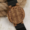 SON MUM - FOLLOW YOU - ZEBRA WOOD WATCH