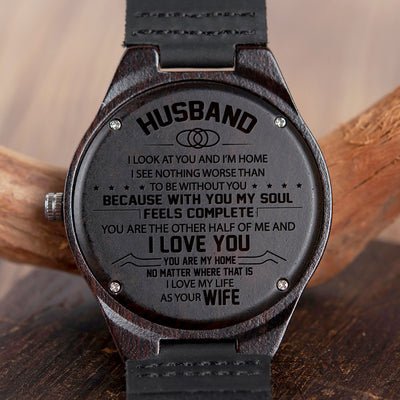 HUSBAND WIFE - LOOK AT YOU - WOOD WATCH