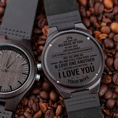 HUSBAND WIFE - NOTHING ELSE MATTERS - WOOD WATCH