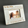 WIFE HUSBAND - STAY TOGETHER THROUGH BOTH THE TEARS & LAUGHTER - WOOD FRAME