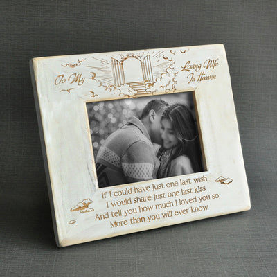 WIDOWED - LOVING WIFE IN HEAVEN - WOOD FRAME