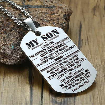 SON DAD - FACE CHALLENGES - DOG TAG