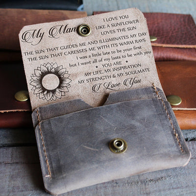 MY MAN - MY SUNSHINE - LEATHER WALLET