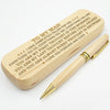 MY MAN - HAVE COMPLETELY FALLEN FOR YOU - ENGRAVED WOOD PEN CASE