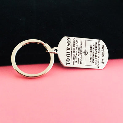 SON MOM AND DAD - ALWAYS BE SAFE - KEY CHAIN 1