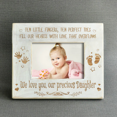 BABY GIRL - OUR PRECIOUS DAUGHTER - WOOD FRAME