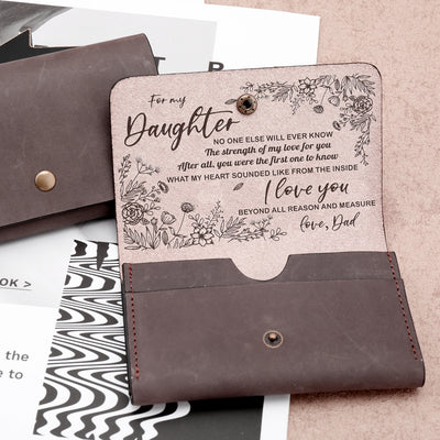 DAUGHTER DAD - MY LOVE FOR YOU - LEATHER WALLET