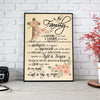 PRAY AND PROTECT - FAMILY ART CANVAS