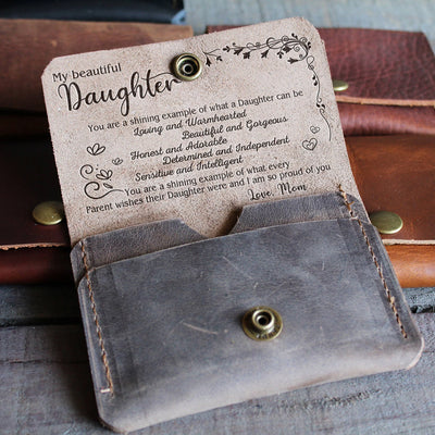 DAUGHTER MOM - SHINING EXAMPLE - LEATHER WALLET