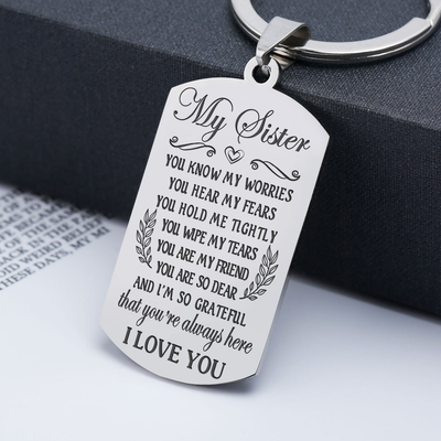 SISTER - GRATEFUL - KEYCHAIN
