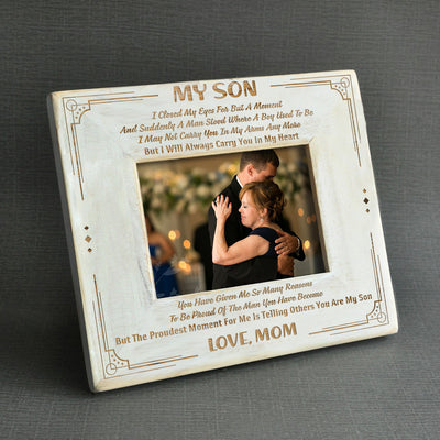 SON MOM - I WILL ALWAYS CARRY YOU IN MY HEART - WOOD FRAME