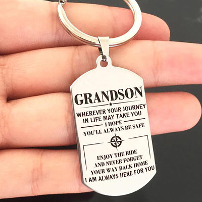 GRANDSON - ALWAYS BE SAFE - KEY CHAIN 1
