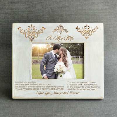 WIFE HUSBAND - THANK YOU FOR BEING A GREAT LIFE PARTNER - WOOD FRAME