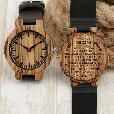 SON MOM - THE BEST THING - ZEBRA WOOD WATCH