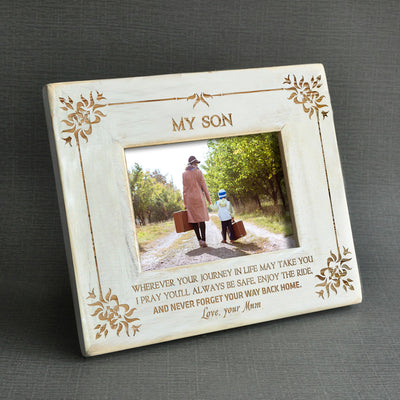 SON MUM - NEVER FORGET YOUR WAY BACK HOME - WOOD FRAME