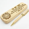 SON DAD - THIS OLD LION WILL ALWAYS HAVE YOUR BACK - ENGRAVED WOOD PEN CASE