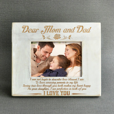 DAUGHTER TO MOM & DAD - AMAZING PARENTS - WOOD FRAME