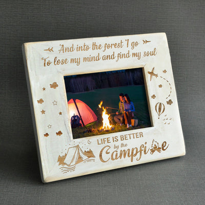 LIFE IS BETTER BY THE CAMPFIRE - WOOD FRAME