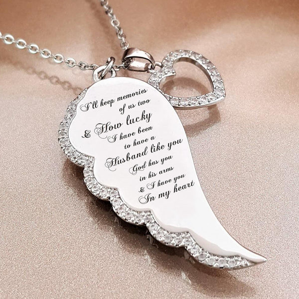 Sterling God Has You in His Arms Necklace In God/'s Arms Angel Wing - Memorial Necklace God
