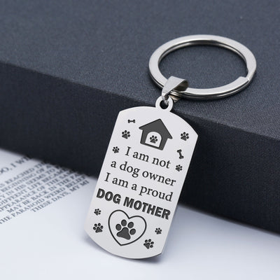 DOG MOM - PROUD - KEY CHAIN