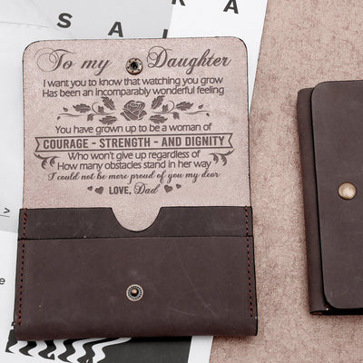 DAUGHTER DAD - PROUD OF YOU - LEATHER WALLET