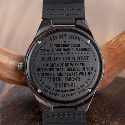 SON MUMMY - JUST DO YOUR BEST - WOOD WATCH