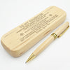 DAUGHTER DADDY - ALWAYS BE SAFE - ENGRAVED WOOD PEN CASE
