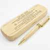 SON MOMMY - ALWAYS BE SAFE - ENGRAVED WOOD PEN CASE