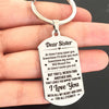 SISTER - LOVE YOU - KEY CHAIN 1