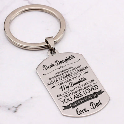 DAUGHTER DAD - YOU ARE LOVED - KEY CHAIN