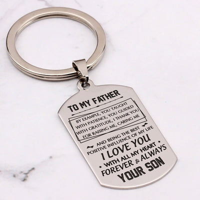 TO MY FATHER - WITH GRATITUDE - KEY CHAIN