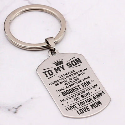 SON MOM - YOUR BIGGEST FAN - KEY CHAIN