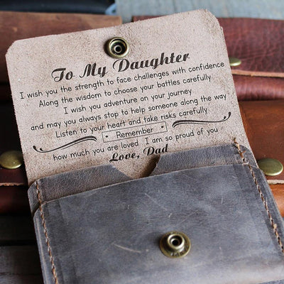 DAUGHTER DAD - WISH - LEATHER WALLET