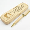 SON DAD - BE THE MAN I KNOW YOU CAN BE - ENGRAVED WOOD PEN CASE
