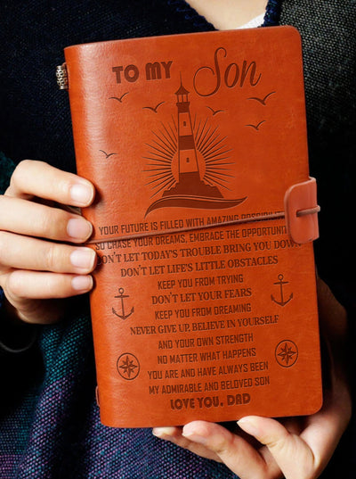 SON DAD - CHASE YOUR DREAMS - VINTAGE JOURNAL