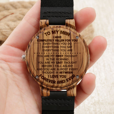 MY MAN - EVERYTHING YOU ARE - ZEBRA WOOD WATCH