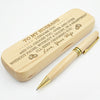 HUSBAND WIFE - I'LL KEEP CHOOSING YOU - ENGRAVED WOOD PEN CASE