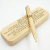 SON DAD - BELIEVE DEEP IN YOUR HEART - ENGRAVED WOOD PEN CASE