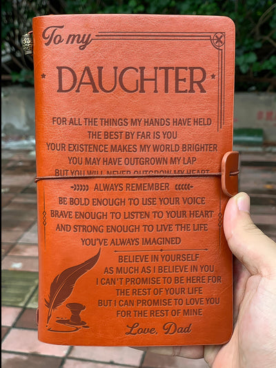 DAUGHTER DAD - BELIEVE IN YOURSELF - VINTAGE JOURNAL