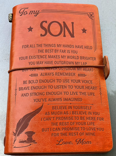 SON MOM - BELIEVE IN YOURSELF - VINTAGE JOURNAL