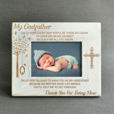 GODFATHER - THANK YOU FOR BEING MINE - WOOD FRAME