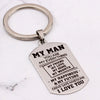 MY MAN - DRIVE SAFE HANDSOME - KEY CHAIN 1